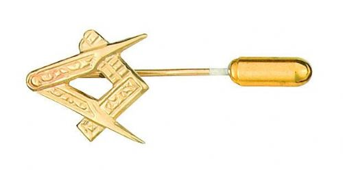Masonic Lapel Pin Cravat Pin 9ct Gold Made To Order in Jewellery Quarter B'ham